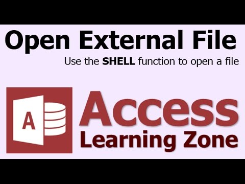 Microsoft Access Open External Files & Programs With Shell Function