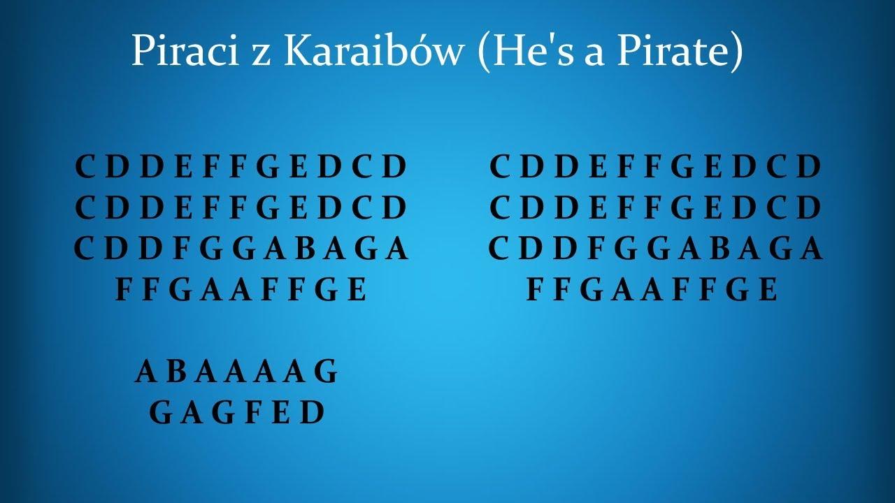 Nauka Gry Na Flecie Prostym Piraci Z Karaibów Hes A Pirate