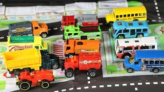 Learning Street Vehicles Names and Sounds for kids with tomica Cars and Trucks