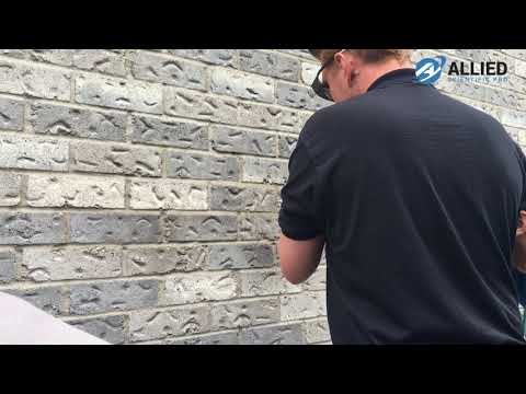 LaserBuster - Cleaning Stone Wall