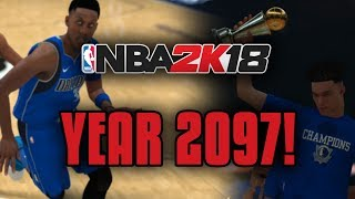 The NBA In The Year 2097! NBA 2K18 MyLeague In 2097! Insane New Records and 99 Overall Players!