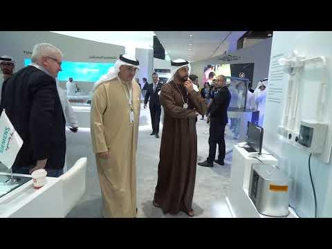 Sheikh Zayed bin Sultan bin Khalifa Al Nahyan visits Masdar's stand at ADSW 2019