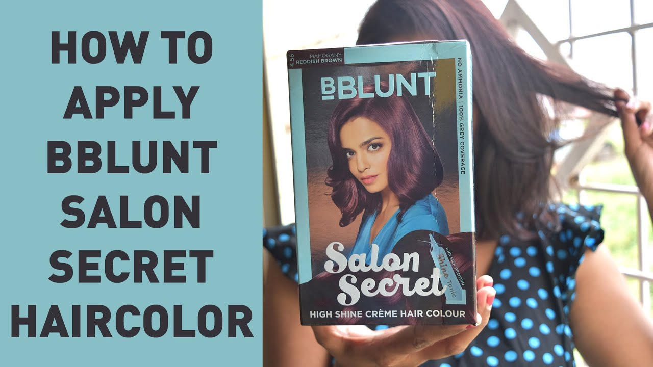How To Apply Bblunt Secret Salon High Shine Creme Hair Color Youtube