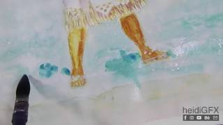 Moana pinup | part 2 of 3 | Painting The Ocean