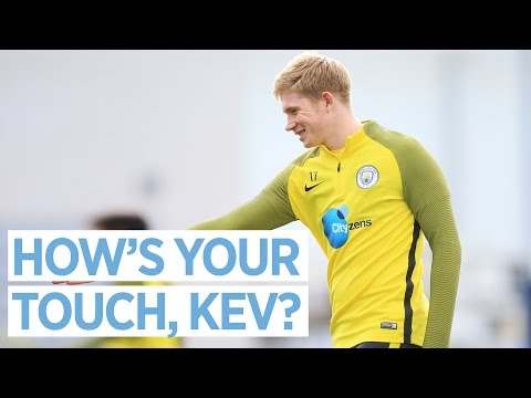 KEVIN DE BRUYNE'S INCREDIBLE FIRST TOUCH! 🔥 | Man City Training