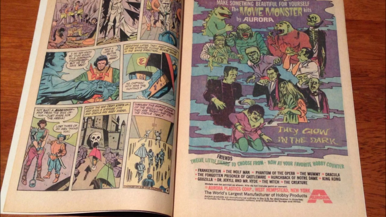 COMIC MAN PRODUCTIONS: AURORA MOVIE MONSTER MODEL KITS DC WONDER WOMAN  COMIC BOOK AD 1970