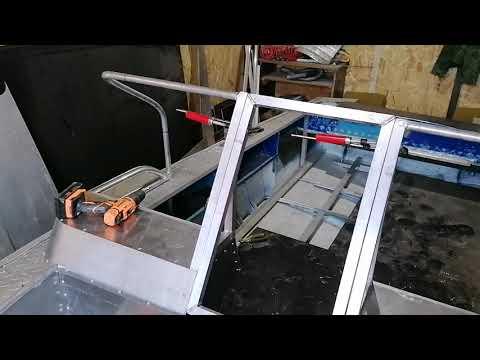 Как самому сделать стекло на лодку прогресс