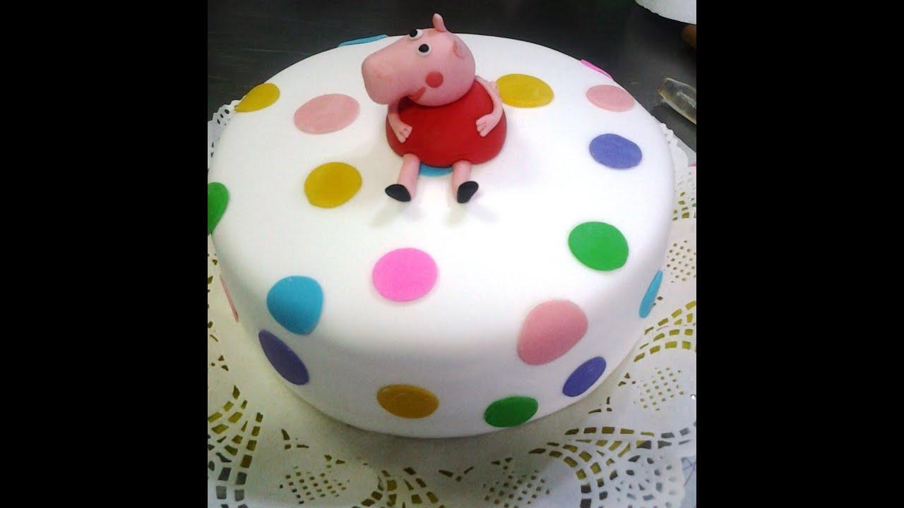 Como forrar con fodant y decorar una torta polka dot cake for Como decorar una torta infantil