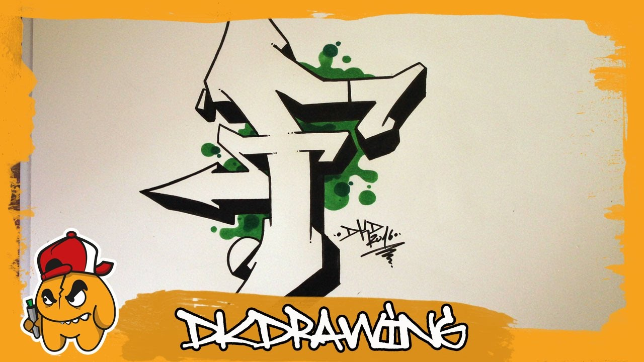 Graffiti alphabet tutorial how to draw graffiti letters letter f youtube