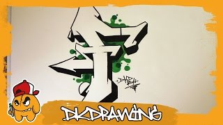Graffiti Alphabet Tutorial - How to draw graffiti letters - Letter F