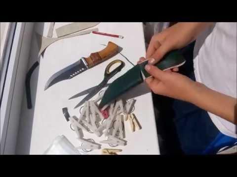 как сделать чехол для ножа (ножны)