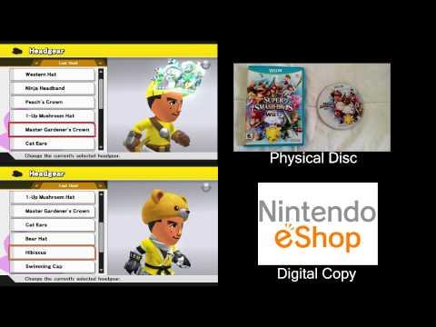 Super Smash Bros Wii U] Physical Disc vs Digital Download Loading Speed Comparison