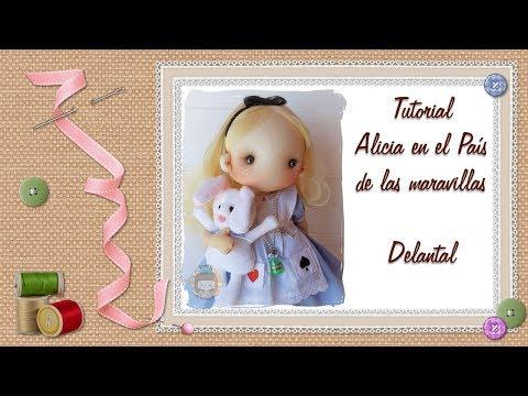 Tutorial Alicia En El País De Las Maravillas: Delantal