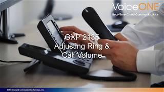 Grandstream GXP2135 Adjusting Volume