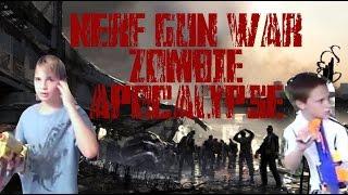 nerf gun war zombie apocalypse