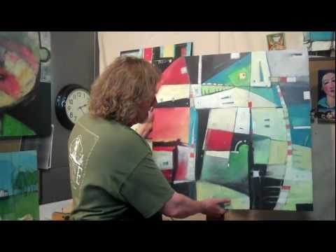 painting an abstract to music