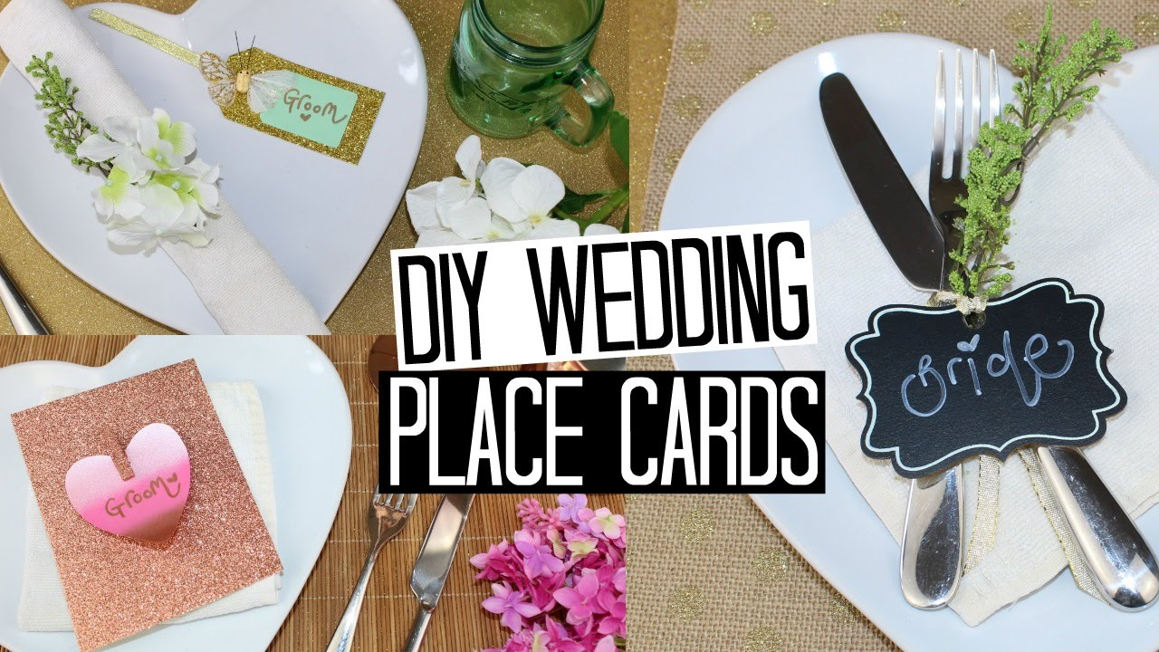 DIY Wedding Place Card Ideas - Easy & Affordable! | WEDDING SERIES ...