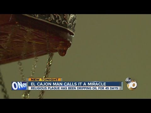 El Cajon man calls oil dripping from Jesus plaque a miracle