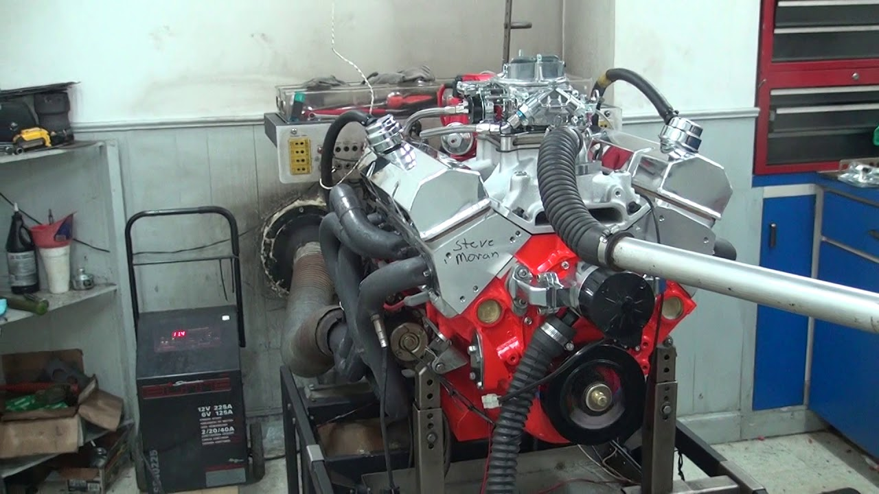 Sbc 497hp 383 stroker engine dyno run for steve moran by white performance and machine