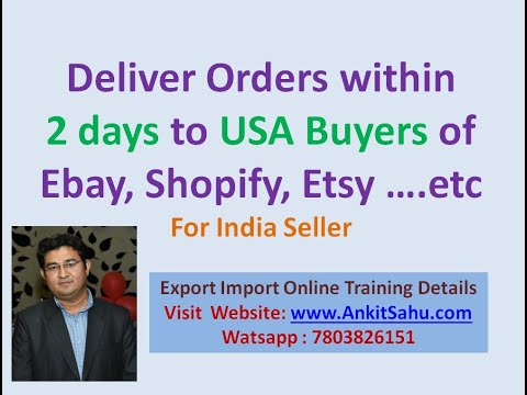 Order Delivery Within 2 Days To USA Buyers Of Ebay Shopify Etsy ETC