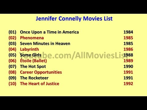 Jennifer Connelly Movies List - YouTube