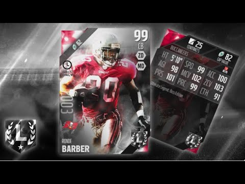018a24861 ULTIMATE LEGEND BOSS RONDE BARBER READY TO BE TEA BAGGED IN MUT 16! MUT 16  REVIEW!