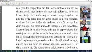 13 | La Sotesana Instruo de Ŭonbulismo | 에스페란토 원불교 대종경 공부 (zoom)