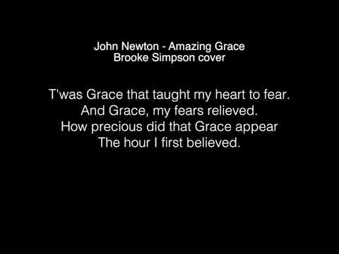Brooke Simpson - Amazing Grace Lyrics ( The Voice 2017 )