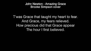 Brooke Simpson - Amazing Grace Lyrics ( The Voice 2017 )