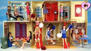 Barbie Disney High School Musical Playset Doll house - Barbie Cheerleader Dolls