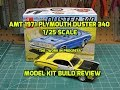 AMT 1971 Plymouth Duster 340 1/25 Scale Model Kit Build Review AMT1118