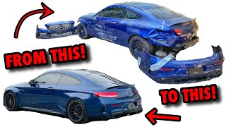 Rebuilding A 2019 Mercedes C63 AMG In 15 Minutes! (CRAZY TRANSFORMATION)