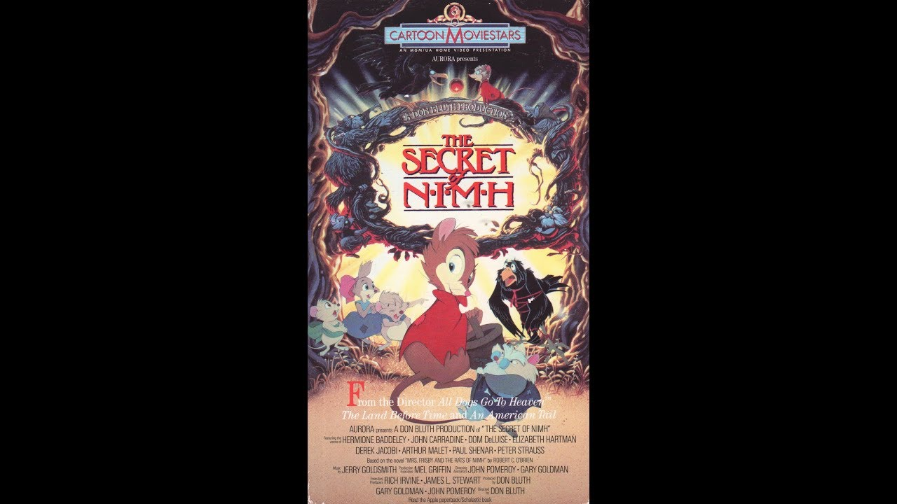 opening and closing to the secret of nimh 1990 vhs youtube