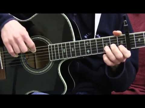 Details in the Fabric Guitar Lesson - Pluck and Chuck Guitar Series Song #8