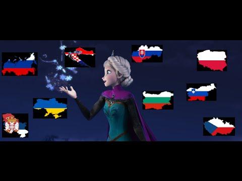 [Frozen] Let It Go | Slavic Multi-Language [HD]
