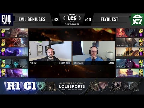 Evil Geniuses Vs FlyQuest - Game 1   Round 1 PlayOffs S10 LCS Spring 2020   EG Vs FLY G1