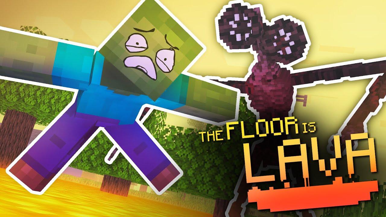 Monster School : THE FLOOR IS LAVA CHALLENGE VS SIREN HEAD - Minecraft Animation
