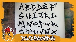 Graffiti Tag Alphabet - Handstyle Tagging #2