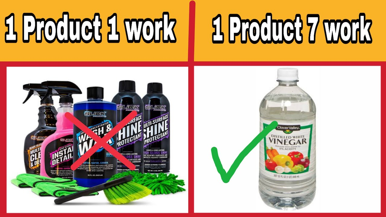 Avoid expensive car cleaning product Use vinegar | cleaning tips 3 hindi