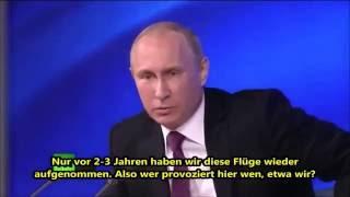 Wladimir Putin antwortet BBC Reporter  Aggression geht nicht von Russland aus 720p 30fps H264 192kbi