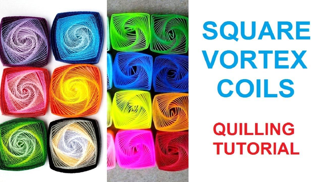 Papercraft How to make square vortex coils