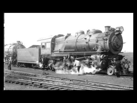 "PRR E6s #460 ""The Lindbergh Engine"" departing Lenola, NJ (1954)"