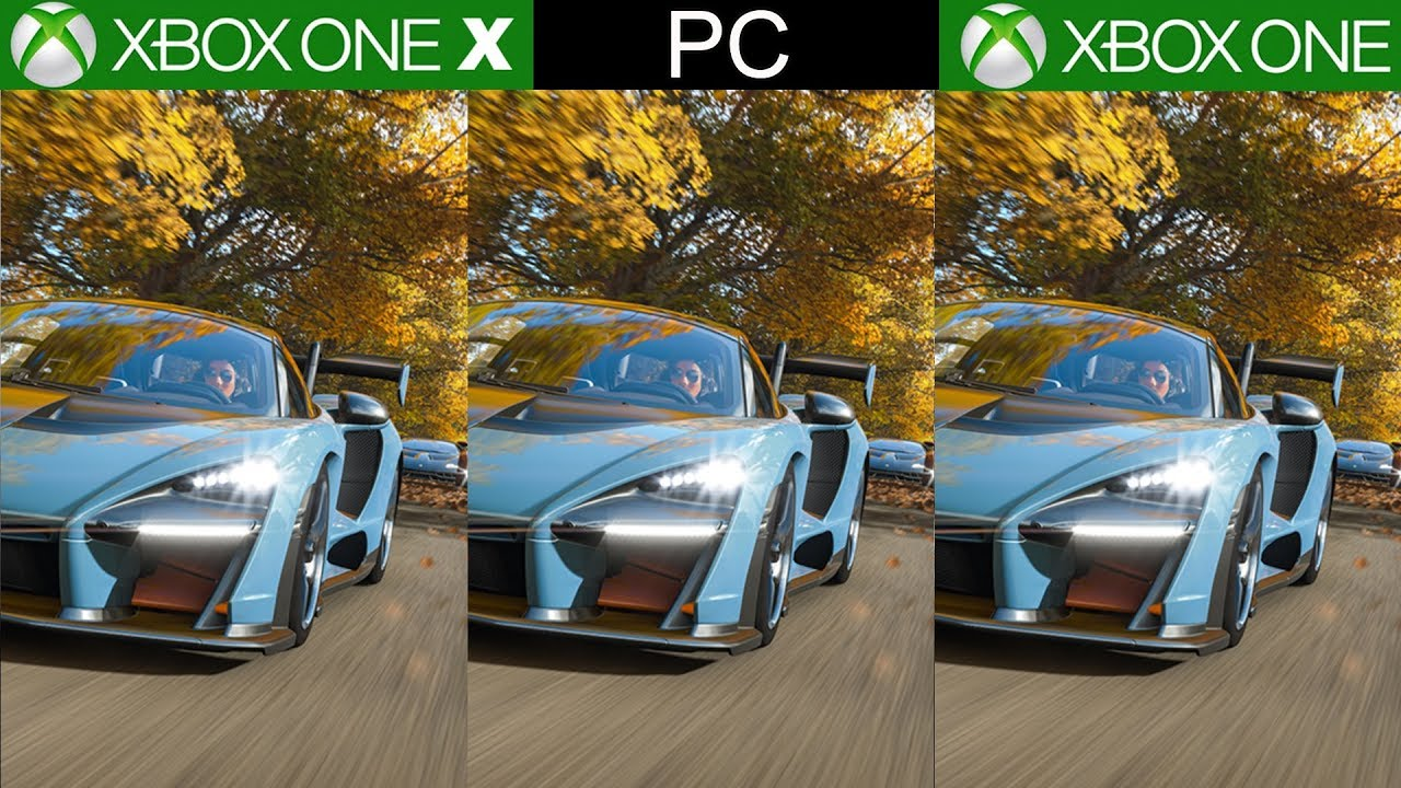 forza horizon 4 xbox one x vs xbox one vs pc a technical. Black Bedroom Furniture Sets. Home Design Ideas