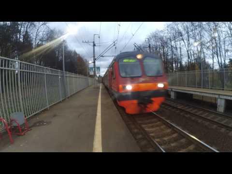Электропоезд ЭД4МК-0023 Экопоезд платформа Переделкино 16.10.2016