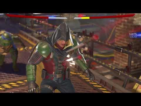 Injustice 2 Leonardo vs Robin