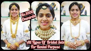 Rs.1000/. மணப்பெண் அலங்கார நகை செட் வாடகைக்கு வாங்க சிறந்த இடம் | Rental Bridal Sets | #Annanagar