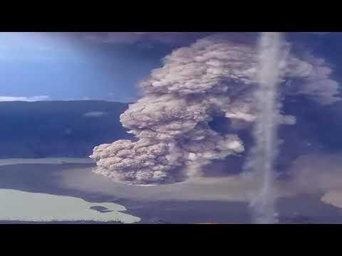 The eruption of the volcano Ambae Vanuatu, 21- 22 March 2018