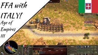 Free for All with Italy! Wars of Liberty | Age of Empires III