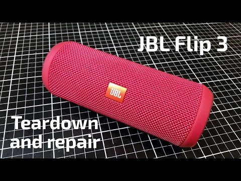 JBL Flip 3 Teardown and USB Repair
