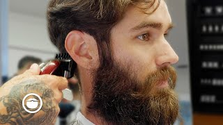 Handsome Guy Cleans Up Hair & Beard (Amazing Results)